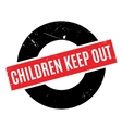 Children Keep Out rubber stamp vector image vector image