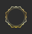 circle gold frame elegant element for design vector image