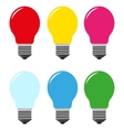 color bulbs vector image vector image
