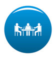 conference icon blue vector image vector image