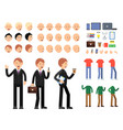 constructor of business characters men in vector image