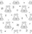 cute yoga bear seamless pattern Meditating vector image vector image