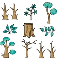 Doodle of tree style wood vector image