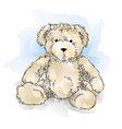 drawing teddy bear color vector image vector image