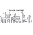 england manchester architecture line skyline vector image vector image
