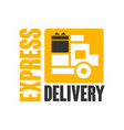express delivery logo design template black and vector image vector image