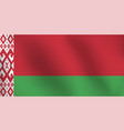 flag of belarus - vector image vector image