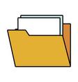 folder open symbol vector image vector image