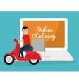 food delivery related icons image vector image vector image