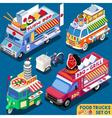 Food Truck Set01 Vehicle Isometric vector image vector image