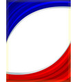 french flag frame wave vector image vector image