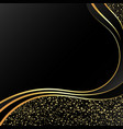 gold on a black background abstract vector image vector image