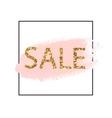 Golden Sale lettering in frame Pastel pink vector image vector image