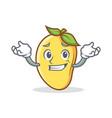 grinning mango character cartoon mascot vector image vector image