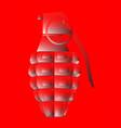 hand grenade red fade vector image vector image