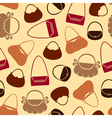 handbag pattern color vector image vector image