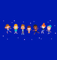 happy children jumping and dancing kids vector image