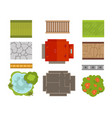 house landscape constructor urban townhouse vector image