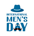 international men s day hand lettering isolated vector image vector image
