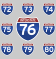 INTERSTATE SINGS 72-80 vector image vector image