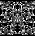 intricate black and white line art tracery vector image vector image