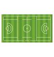 lacrosse field aerial vector image vector image