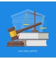 Law and justice concept in vector image vector image