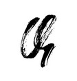 letter q handwritten by dry brush rough strokes vector image vector image