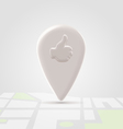 Like local pin over block map vector image vector image