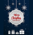 merry christmas and happy new year 2019 on blue na vector image vector image