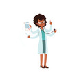 multitasking african american doctor character vector image