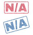 n-a textile stamps vector image vector image