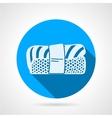Nigiri sushi flat round icon vector image vector image