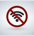 no or forbidden wifi signal sign isolated on vector image vector image