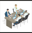 office employees work at laptops vector image vector image