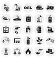 oil industry icons on circle white background vector image