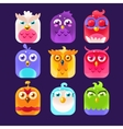 Owl Icon Collection vector image