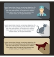 Pet care vet clinic banners set flat style vector image vector image