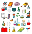 Physics chemistry medicine science research icon vector image