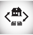 property real estate buy sell on white background vector image