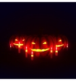 pumpkins with candles vector image