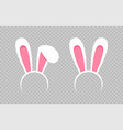 rabbit ear hat happy easter web banner greeting vector image vector image