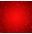 red snowflakes vector image vector image