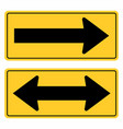 road arrows sign vector image vector image