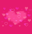 romantic happy valentines day background vector image