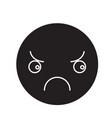sad emoji black concept icon sad emoji vector image vector image
