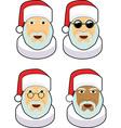Santa icon sets vector image vector image