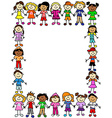 Seamless kids friendship pattern 2 vector image vector image