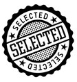 selected black and white badge vector image