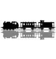 silhouette an old steam train vector image vector image